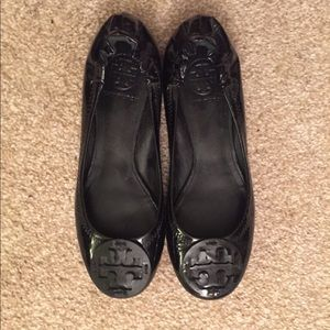 Tory Burch Reva Black Patent Leather 6